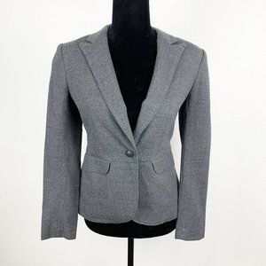 Rag & Bone Single Button Gray Wool Blazer